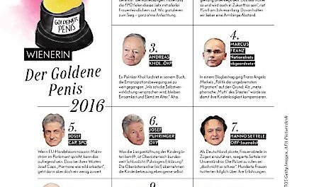 WIENERIN verleiht GOLDENEN PENIS 2016