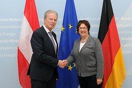 Wirtschafts- und Energieminister Mitterlehner traf deutsche Amtskollegin Zypries