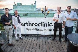 Sommerfest arthroclinic.wien Erfahrungsaustausch von Orthopäden, Unfallchirurgen und Radiologen