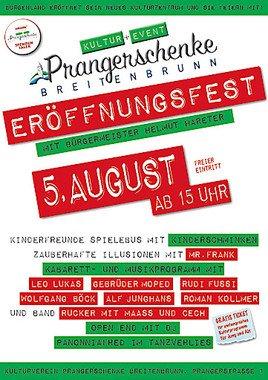 Prangerschenke Breitenbrunn – Neues Kultzentrum feiert Eröffnungsfest am 05.08.