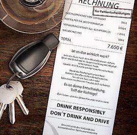 """Verband der Spirituosenindustrie startet neue """"Don't Drink and Drive""""-Kampagne"""