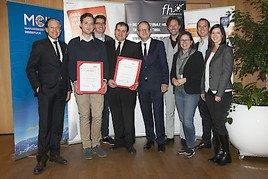 Zwei MCI-Absolventen mit Wissenschaftspreis 2017 ausgezeichnet