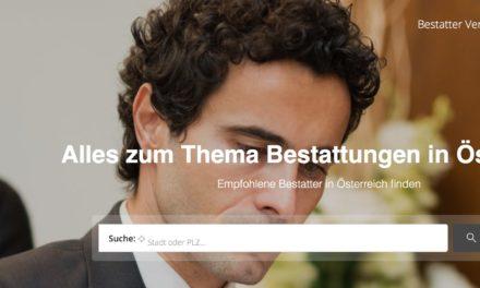 Bestattungsinfo.at das neue Portal zum Thema Bestattungen