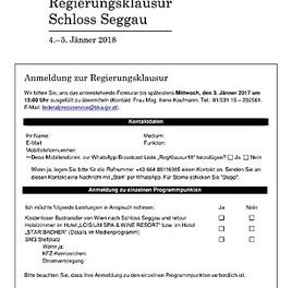 Regierungsklausur Schloss Seggau