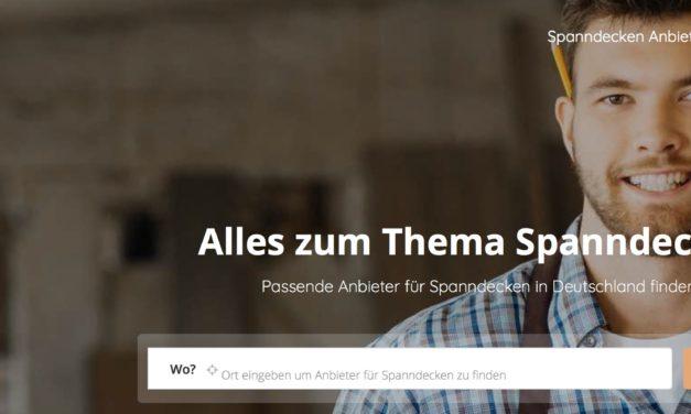 Spanndeckeninfo.de das neue Portal für Spanndecken in Deutschland