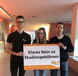 Vertreter der Universität Innsbruck sprechen sich klar gegen Studiengebühren aus!
