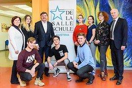 Andreas Salcher spricht an der De La Salle Schule Strebersdorf über das Bildungssystem der Zukunft