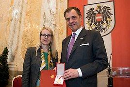 Goldenes Verdienstzeichen der Republik für Immobilienunternehmer Dr. Eugen Otto