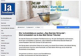 """Ein """"Bad der Träume"""" als 1a-Hauptgewinn – 1a-Installateure starten Wettbewerb zum desolatesten Bad Österreichs."""