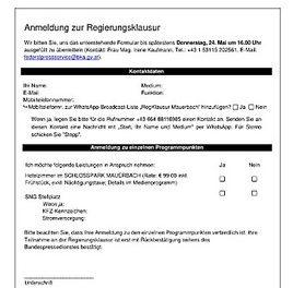 AVISO: Regierungsklausur in Mauerbach, 27. – 28. Mai 2018