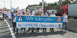 Demo auf der A2: Wiener Neudorf fordert vehement Tempo 80