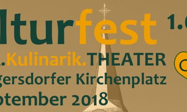 Kulturfest 1.0 am Atzgersdorfer Kirchenplatz – OPEN AIR am 28. September 2018 bei FREIEN EINTRITT