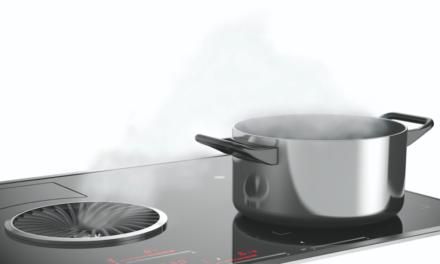 Damit die Luft immer rein ist: Neues Kochfeld mit integriertem Dunstabzug