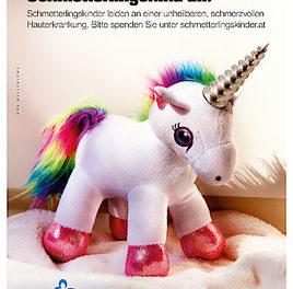 Neue Werbesujets – Einhorn und Kinderschuhe – sind da! DEBRA Austria und GGKMULLENLOWE mit neuer Kampagne