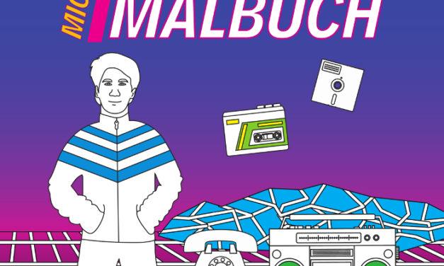 Mit dem 80er Malbuch in die Vergangenheit reisen