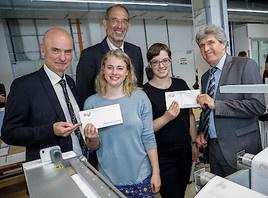 Wissenschaftsminister Heinz Faßmann und ÖH-Vorsitzende Hannah Lutz besuchen im Vorfeld der ÖH-Wahl Druckzentrum