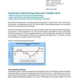 Creditreform KMU-Umfrage zur Personalentwicklung in Österreich, Frühjahr 2019