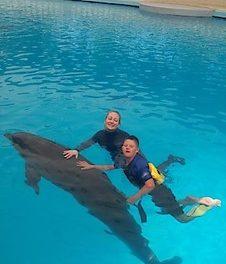 Charity-Aktion in Simmering: Delfintherapie für Justin