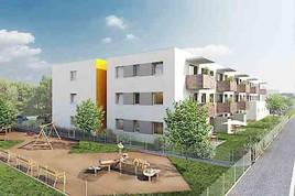Feierlicher Spatenstich in Bruck an der Leitha, Fliedergasse, Bauteil 4