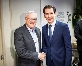 ABB CEO Voser traf Österreichs Bundeskanzler Kurz bei WEF in Davos