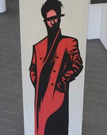 Zwei Urban-Art-Arbeiten von GOLIF an der Ottilie-Bondy-Promenade