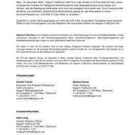 EANS-News: Kapsch TrafficCom hat die Beteiligung an Q-Free ASA veräußert.