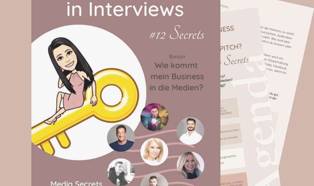 Wie glänzt man in Interviews? Neues E-Book mit prominenten Tipps