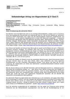 """FPÖ-Kunasek/Mayer: """"EU-Angriff auf heimischen Qualitätswein ist nicht tolerierbar!"""""""
